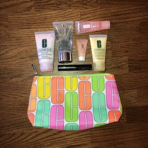 Clinique travel bag and travel skin care
